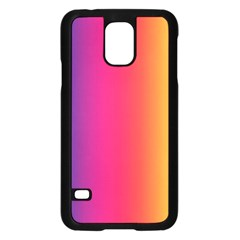 Abstract Rainbow Samsung Galaxy S5 Case (black)