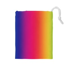 Abstract Rainbow Drawstring Pouches (Large)