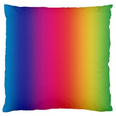 Abstract Rainbow Large Flano Cushion Case (two Sides)