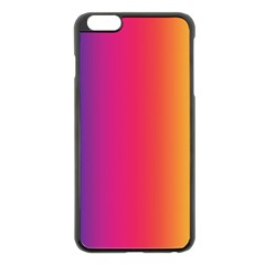 Abstract Rainbow Apple iPhone 6 Plus/6S Plus Black Enamel Case
