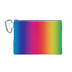 Abstract Rainbow Canvas Cosmetic Bag (M)