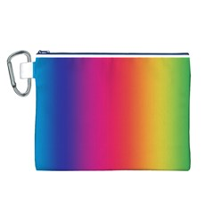 Abstract Rainbow Canvas Cosmetic Bag (L)