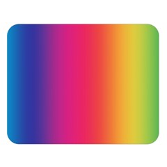 Abstract Rainbow Double Sided Flano Blanket (Large)