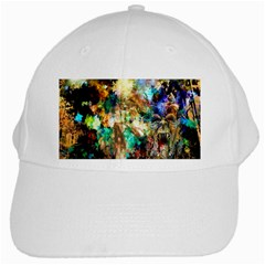 Abstract Digital Art White Cap