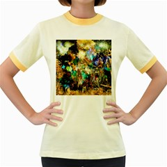 Abstract Digital Art Women s Fitted Ringer T Shirts