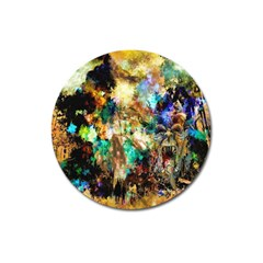 Abstract Digital Art Magnet 3  (Round)