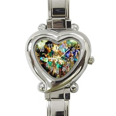 Abstract Digital Art Heart Italian Charm Watch
