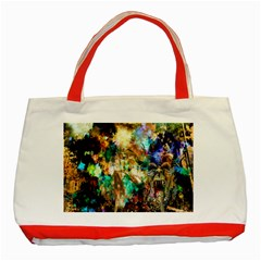 Abstract Digital Art Classic Tote Bag (Red)