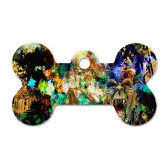 Abstract Digital Art Dog Tag Bone (Two Sides)