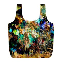 Abstract Digital Art Full Print Recycle Bags (L)