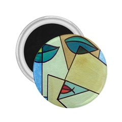 Abstract Art Face 2.25  Magnets