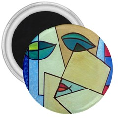 Abstract Art Face 3  Magnets