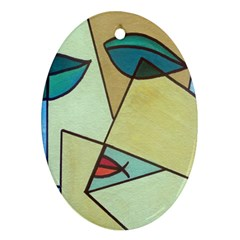 Abstract Art Face Ornament (oval)