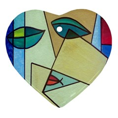 Abstract Art Face Ornament (Heart)