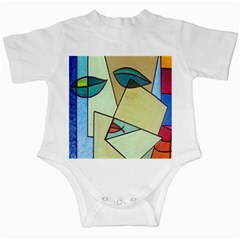 Abstract Art Face Infant Creepers
