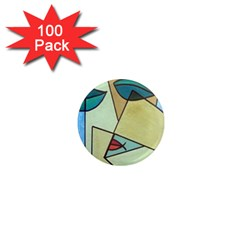 Abstract Art Face 1  Mini Magnets (100 pack)