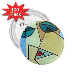Abstract Art Face 2.25  Buttons (100 pack)
