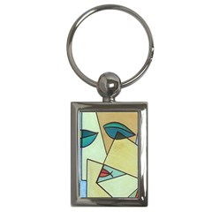 Abstract Art Face Key Chains (Rectangle)
