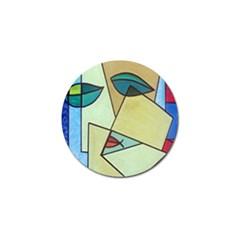 Abstract Art Face Golf Ball Marker (4 pack)