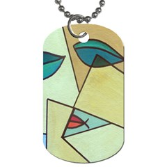 Abstract Art Face Dog Tag (Two Sides)
