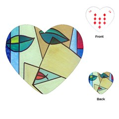 Abstract Art Face Playing Cards (Heart)