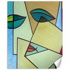 Abstract Art Face Canvas 16  x 20