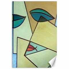 Abstract Art Face Canvas 24  x 36