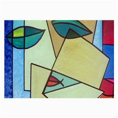 Abstract Art Face Large Glasses Cloth (2-Side)