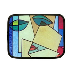 Abstract Art Face Netbook Case (Small)