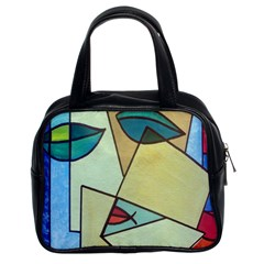 Abstract Art Face Classic Handbags (2 Sides)