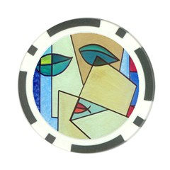 Abstract Art Face Poker Chip Card Guard (10 pack)