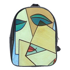 Abstract Art Face School Bags(Large)