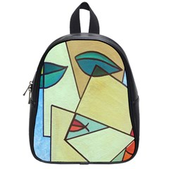 Abstract Art Face School Bags (Small)