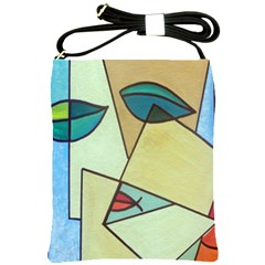 Abstract Art Face Shoulder Sling Bags