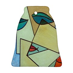Abstract Art Face Bell Ornament (Two Sides)