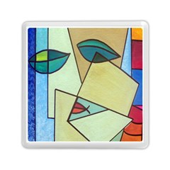Abstract Art Face Memory Card Reader (Square)