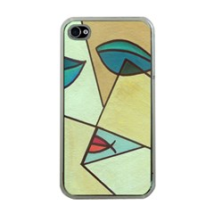 Abstract Art Face Apple iPhone 4 Case (Clear)