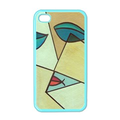 Abstract Art Face Apple iPhone 4 Case (Color)