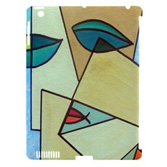 Abstract Art Face Apple iPad 3/4 Hardshell Case (Compatible with Smart Cover)
