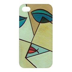 Abstract Art Face Apple Iphone 4/4s Premium Hardshell Case