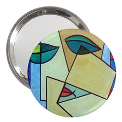 Abstract Art Face 3  Handbag Mirrors