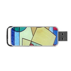 Abstract Art Face Portable Usb Flash (one Side)