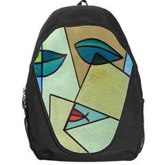 Abstract Art Face Backpack Bag