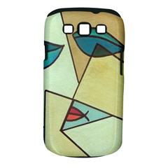 Abstract Art Face Samsung Galaxy S Iii Classic Hardshell Case (pc+silicone)