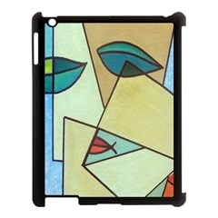 Abstract Art Face Apple Ipad 3/4 Case (black)