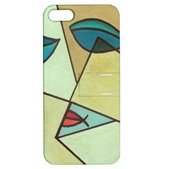 Abstract Art Face Apple Iphone 5 Hardshell Case With Stand