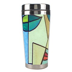 Abstract Art Face Stainless Steel Travel Tumblers