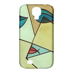 Abstract Art Face Samsung Galaxy S4 Classic Hardshell Case (PC+Silicone)