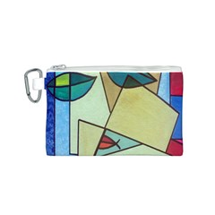 Abstract Art Face Canvas Cosmetic Bag (s)
