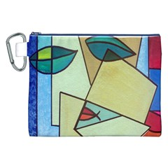 Abstract Art Face Canvas Cosmetic Bag (XXL)